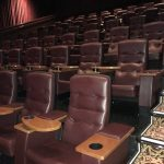 Used vip theater seats brown leather ette