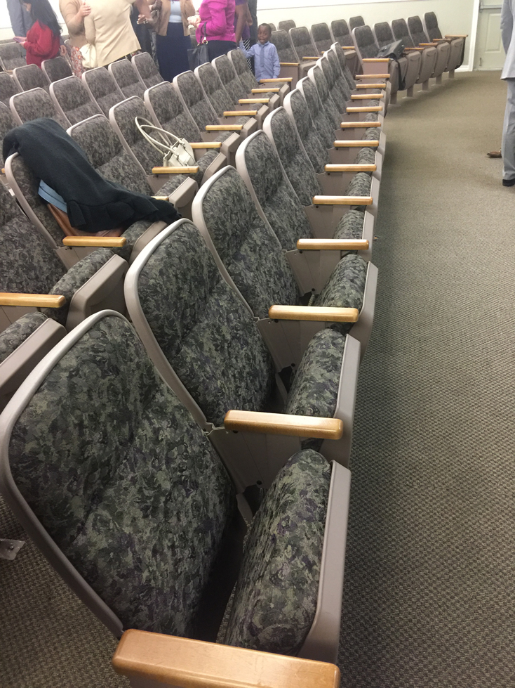 Used auditorium church chairs