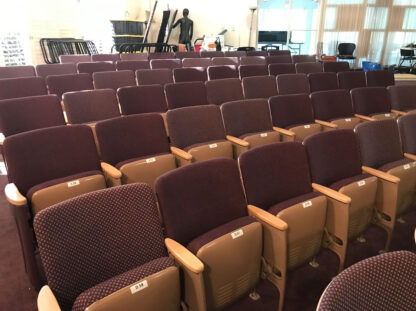 used theater seats St. Pete Playhouse chairs