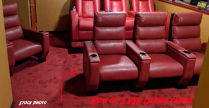 Used theater seating VIP Glider chairs