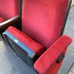 Burton red velvet used theater seating