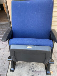 Used auditorium chairs blue school seating