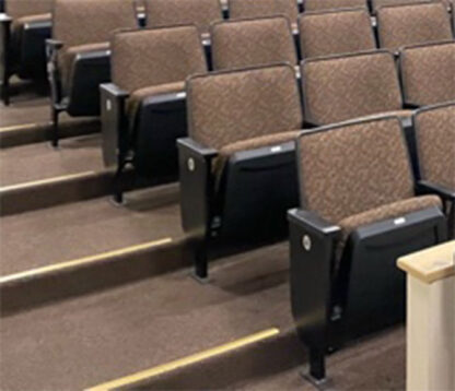 Rock Citation fixed back church chairs used theater seating