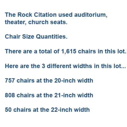 Used theater seating